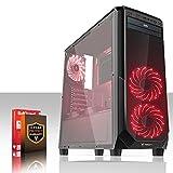 Fierce Phoenix Gaming PC - Schnell 4 x 3.4GHz Quad-Core AMD Ryzen 3 1200, 2TB Festplatte, 8GB von 2133MHz DDR4 RAM / Speicher, AMD Radeon RX 550 2GB, Gigabyte AB350-GAMING Hauptplatine, Schwarz Computergehäuse/Rot Fans, HDMI, USB3, Wi - Fi, Perfekt für Wettkampfspiele, Windows nicht Enthalten, 3 Jahre Garantie 508033