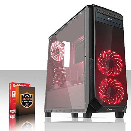 Fierce GUARDIAN Ordenador de juegos – rápido AMD Ryzen 7 1800X 4GHz – 16GB 2133 MHz DDR4 RAM – NVIDIA GeForce GTX 1060 6GB – (398247)