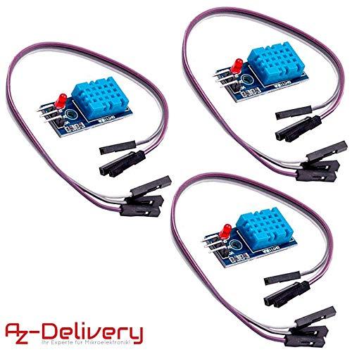AZDelivery ⭐⭐⭐⭐⭐ 3 x DHT11 módulo conexión
