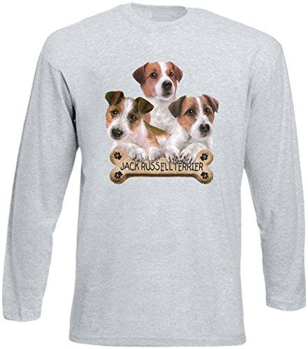 Herren Langarm-Shirt ::: Jack Russell Terriers ::: für Hundeliebhaber Grau