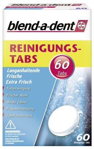 Blend-a-dent Reinigungs-Tabs Langanhaltendes Frischegefühl, 2er Pack (2 x 60 Stück)