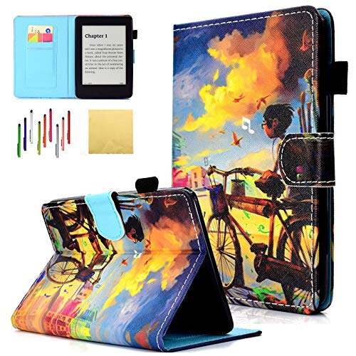 für Kindle Paperwhite, Folio Stand SmartShell Cover mit automatischer Sleep/Wake-Funktion für Kindle Paperwhite (passend für alle Versionen 2012, 2013, 2015 und 2016) 01 Bicycle Boy ()
