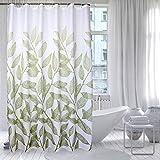 Duschvorhänge Grüne leaf muster Gepolsterte wasserdichte schimmel Bad vorhänge Badezimmer wand hängend vorhang-A 150x200cm(59x79inch)