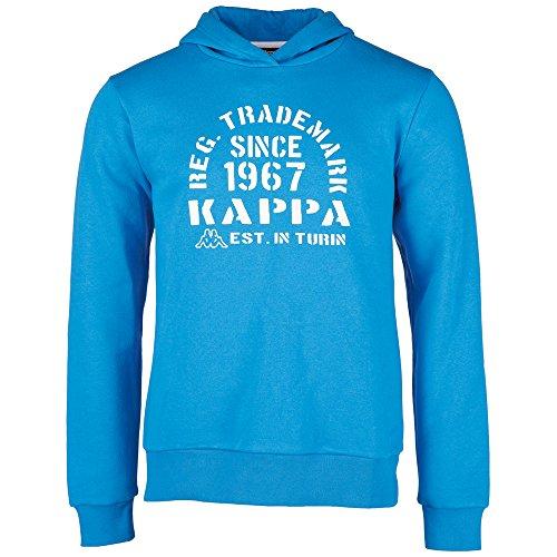 Kappa, Felpa con cappuccio Bambino Tilo, Blu (Blue Aster), 140 cm