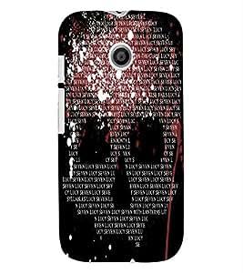 ColourCraft Typography Design Back Case Cover for MOTOROLA MOTO E