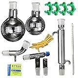 Nuovo dispositivo Lab olio essenziale di vapore distillazione chimica organica vetreria kit acqua Distillatore purificatore W/24/40comune