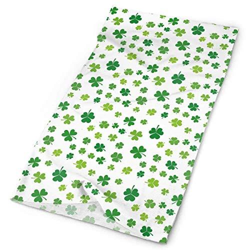 St. Patrick's Day Lucky Shamrock Herren Damen Gesichtsmaske Halstuch Sonnenschutz Schirm Bandanas Kopfbedeckung Breite Stirnbänder Schal Kopftuch