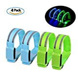 Reflektierende Sicherheits Armband leuchte LED Sports Armband Reflektor Leuchtband-laufen joggen