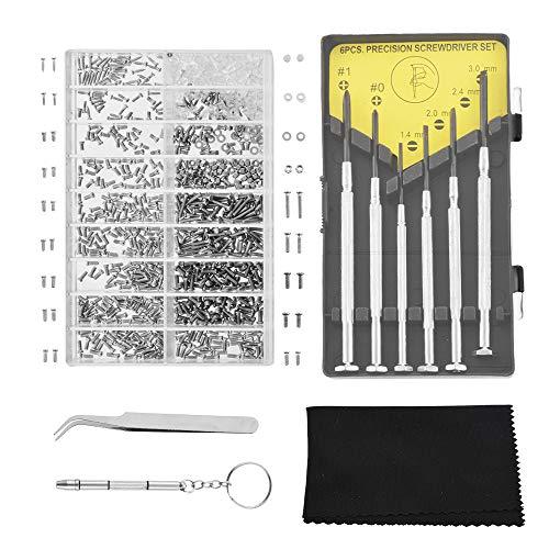 Godagoda Brillen Reparatur Set Mini Tragbar Edelstahl Uhren Schmuck Schraubendreher Schraubenzieher Werkzeug Kit