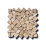 M-021 Marmor Bruchstein Mosaikfliese Mocca Naturstein Badezimmer Stein-mosaik Herne Fliesen Lager Verkauf NRW