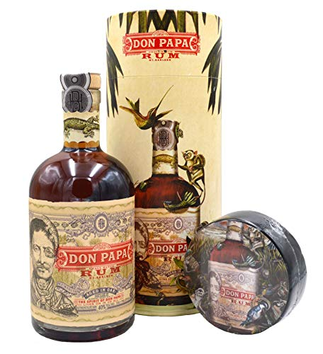 Don Papa Geschenkset - Rum 0,7l + T-Shirt in Geschenkdose (Erhalten Sie Es Zusammen Tshirt)