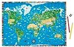 Illustrierte Weltkarte für Kinder und...
