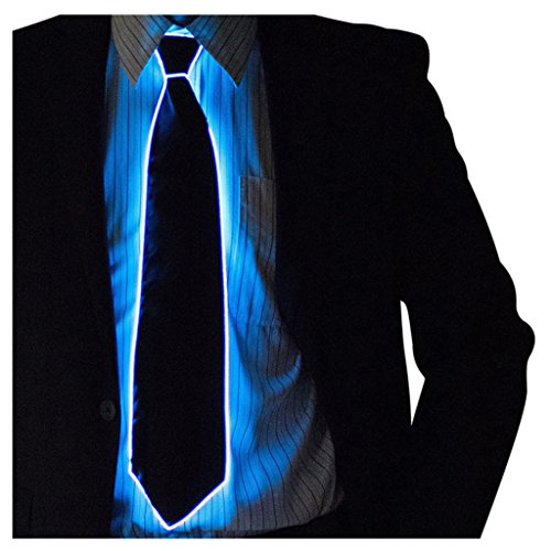 KAIMENG 1 Stück Tie Lampensockel Cosplay LED Tie, Dress up America Tie with Flashing LED Lights (Red) by Dress up,Halloween Elegante Party Kostüme 'Bar Performance Hut (Pora) Color1