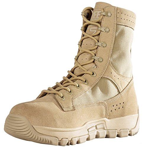 Free Soldier Messieurs Outdoor tactique Chaussures étanche tactiquement Bottes Randonnée Bottes de combat Tactical Chaussures Tactical Boots Sandfarbe