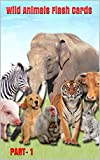Wild Animals Flash Cards: Wild Animal flash cards book with digital picture with name of animal