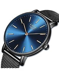 Reloj de Pulsera para Hombre, de Lujo, Ultra Delgado, Deportivo, de Malla