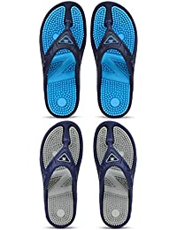 Maddy Perfect Combo Pack Of 2 Acupressure Health Care Slippers For Pain Relief For Men's