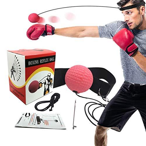 BuguCat Boxen Training Ball,Reflex Fightball Kampf Dekompression Geschwindigkeit Speed Fitness Punch Boxing Ball mit Kopfband, Trainingsgerät Speedball Zuhause und Outdoor für Boxtraining