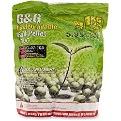 1 kg pellets de 5,000 bolas naturales biodegradables, 0,20g 6mm. G&G