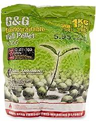 Sobre 1 kg pellets de 5,000 g & g naturales biodegradables bio doce y veinte gr de 6 mm