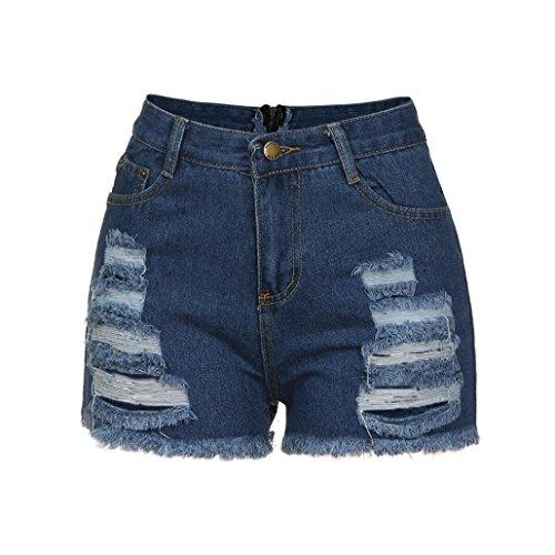 OHQ Pantalones Vaqueros De Mujer Pantalones Cortos De Mezclilla Traseros Con Cremallera De Mujer Pantalones Largos De Pierna Ancha Con...