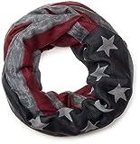 styleBREAKER Vintage Design USA Flaggen Muster Loop Schlauchschal, Stars and Stripes, Unisex 01016083, Farbe:Grau