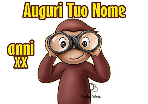 Cialda-per-Torta-CURIOSO-COME-GEORGE-scimmia-da-personalizzare-curioso001