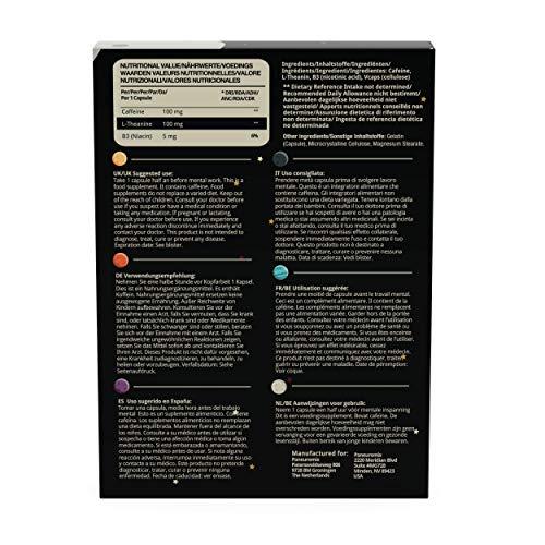 Booster Caps von Paneuromix – Koffein, L-Theanin und Vitamin B3 – Koffeinkapseln