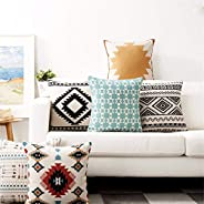 AEROHAVEN™ Set of 5 Designer Decorative Throw Pillow/Cushion Covers - (Multi, 16 x 16 inch)