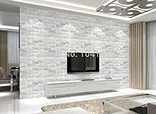 Store2508 Vintage Deep Embossed 3D Brick Pattern Wallpaper (10 Metres X  0.53 Metre)