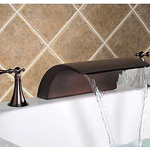 olio di bronzo lucidato diffusa cascata rubinetto lavabo bagno