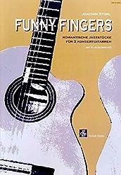 Funny Fingers (mit Audio Cd)- Romantische Jazzstücke für 2 Konzertgitarren.