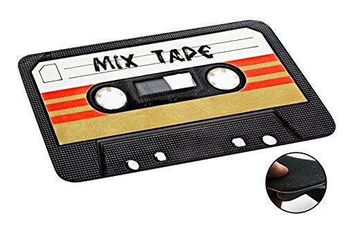Aztec Music Box (1082 - Cool Fun Mix Tape Cassette Player Retro Music Dance Hip Hop Rnb Boom Box Design Macbook PC Laptop Anti-slip Mousepad Mouse Mat Tpu Leather Stark haftende Unterseite für optimalen Halt)