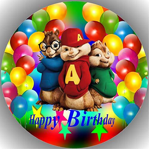Fondant Tortenaufleger Tortenbild Geburtstag Alvin und die Chipmunks T19