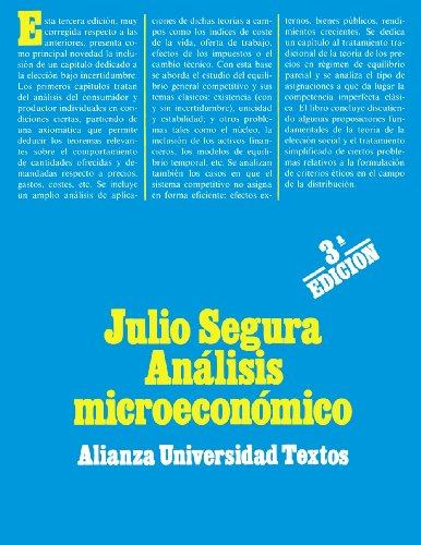 Descargar Libro Análisis microeconómico (Alianza Universidad Textos (Aut)) de Julio Segura Sánchez