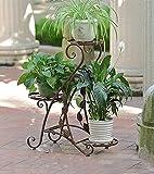 ZHDC® European-style einfache Blumenständer, Eisen Mehrere Schichten Wohnzimmer Green Rettich Regal Balkon Innen Pastoral Blume Racks 47 × 26 × 69 cm Stabiler, starker Speicherplatz ( Farbe : #2 )