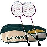 [Sponsored]Li-Ning ABDK122 Smash XP 708 Combo (Li-Ning ABDK122 Badminton Kitbag + Li-Ning 708 Badminton Racquet, Set Of 2) - Cyan Bag