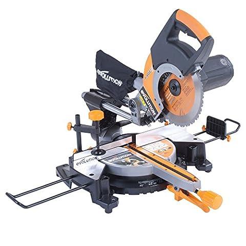 Evolution RAGE3+ Multipurpose Sliding Mitre Saw With Accessory Pack (230 V, 255 mm)