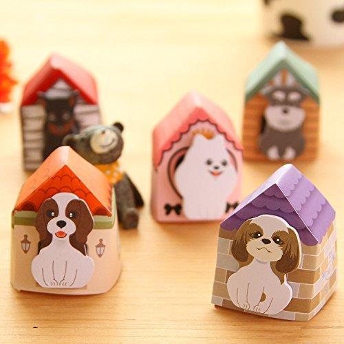 2Stück Cute Cartoon kawaii Tier Hund Post-it selbstklebend Memo Sticky Notes Pads (Tier-liebhaber-hund-tag)