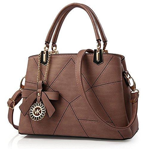 FavoMode, Borsetta da polso donna marrone Braune Handtasche taglia unica Braune Handtasche