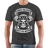 Männer und Herren T-Shirt Schwatz Mir keinen Rost ans Moped Größe S - 8XL