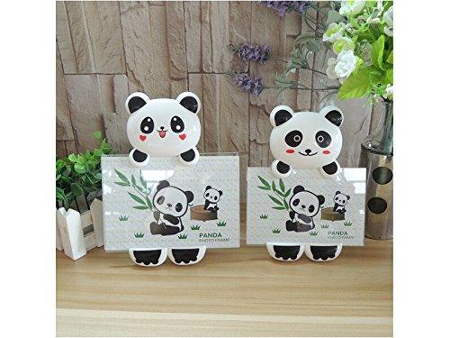 QWhing Liebe Karikatur-Panda-Bilderrahmen-Foto-Anzeige für Haus und Büro für die Familie