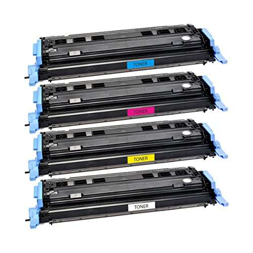 Logic-Seek 4 Toner kompatibel für HP Q6000A Q6001A Q6002A Q6003A, je 2500 Seiten -