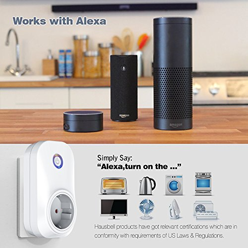 foval 2 pack intelligente alexa steckdose smart home outlet plug wlan steckdose mit app. Black Bedroom Furniture Sets. Home Design Ideas