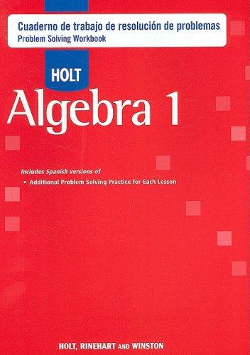 WORKBK-SPA-HOLT ALGEBRA 1 CUAD
