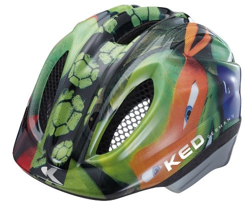 KED Unisex Fahrradhelm Meggy Original, Mehrfarbig (Turtles) , 44-49 Turtle Helm