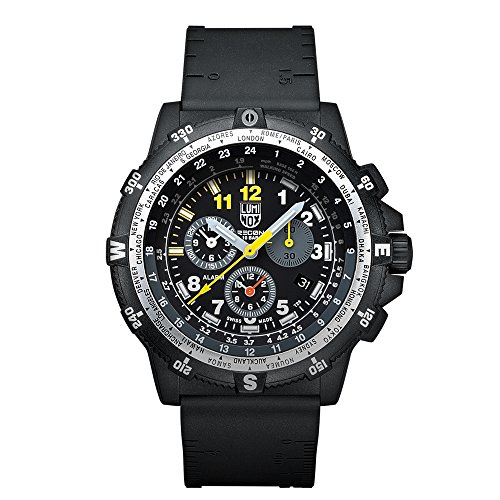 Luminox Men's Recon Team Leader 46mm Black Resin Band Polycarbonate Case Quartz Analog Watch 8842MI