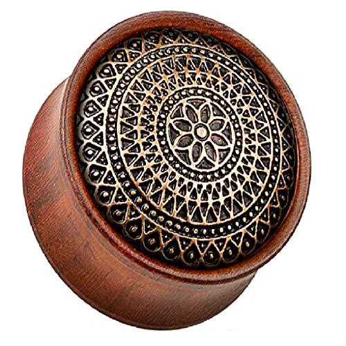 Ausgefallene Bio Rose Holz Aztec Lattice Design 8mm Sattel Ohr Plug Flesh Tunnel erhältlich in anderen Größen Unsere Pegasus Body Jewellery Amazon Shop Rose Lattice
