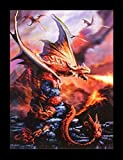 3D Bild Drache - Fire Dragon by Anne Stokes | Fantasy Poster Kunstdruck