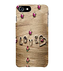 PrintVisa Love Heart Pattern 3D Hard Polycarbonate Designer Back Case Cover for Apple iPhone 7